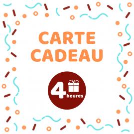 Carte cadeau - Atelier 4h