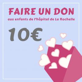 """Carte cadeau """"Faire un don de 10 €"""""""