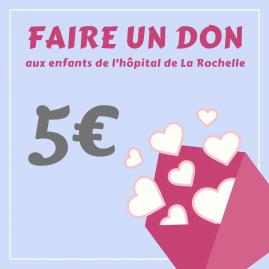 """Carte cadeau """"Faire un don de 5 €"""""""